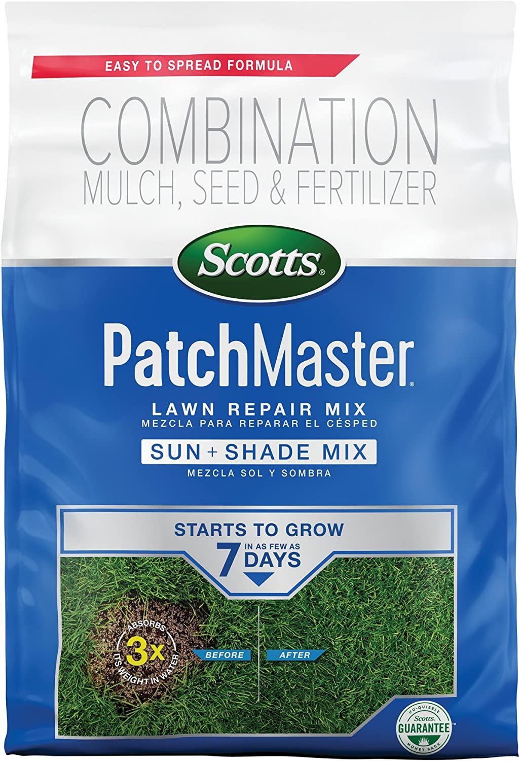 Scotts PatchMaster Lawn Repair Mix Sun and Shade Mix, 4.75 lb