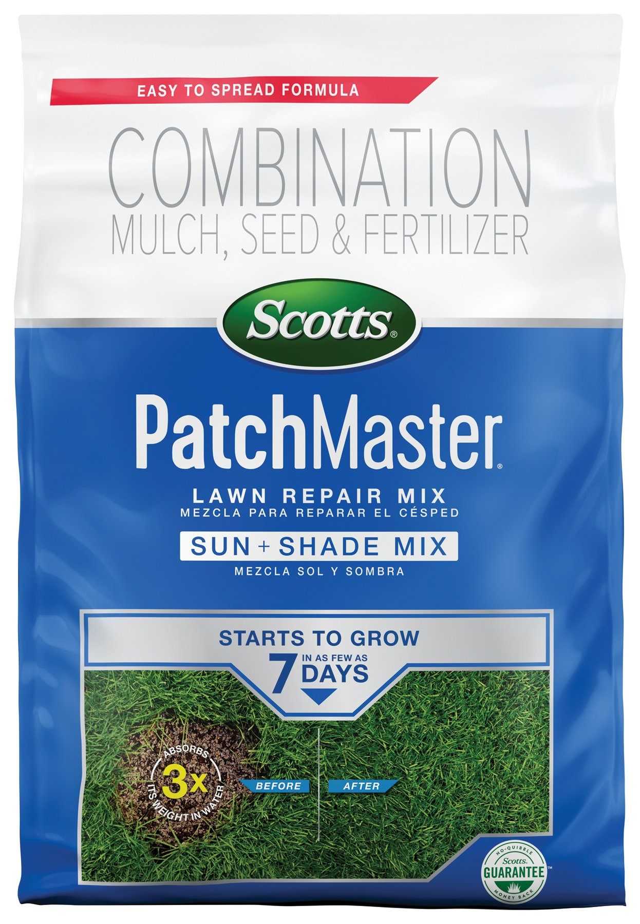 Scotts 14902 PatchMaster Lawn Repair Sun & Shade Mix-290 sq. ft, 10 LB by Scotts