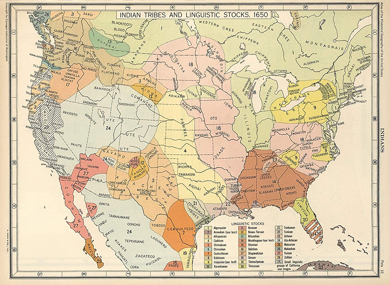 Riley Creative Solutions 🔵 1650 US Map Native American Indian Tribes  Languages | Historical Poster (23"|1500|1096|?|en|2|8dec5108db54829a08dba07bd6703260|False|UNLIKELY|0.3281177878379822