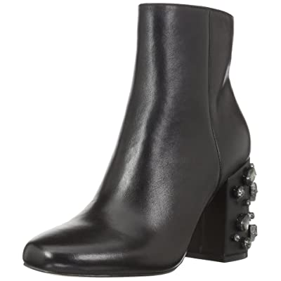 Brand - The Fix Women's Sharlotta Embellished Block Heel Ankle Boot, Black, 8 B US: Clothing