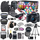 Canon EOS 77D DSLR Camera Deluxe Video Kit with Canon EF-S 18-55mm f/3.5-5.6 is STM Lens + Rode VIDEOMIC GO Microphone…
