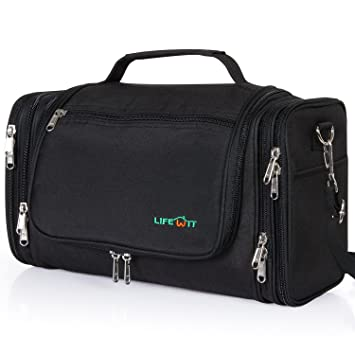 Amazon.com   Lifewit Hanging Toiletry Bag Extra Large Waterproof Travel  Essentials Organizer Personal Cosmetic Makeup Shaving Kit   Beauty 2026af5a3c72f