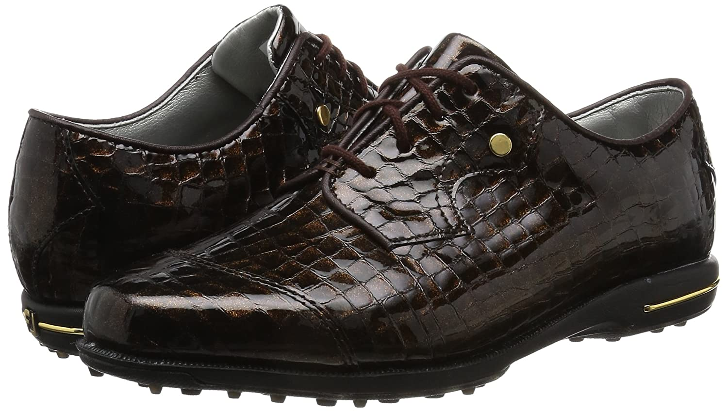 FootJoy Women's Tailored Collection Golf Shoes B01KP08TYI 10 B(M) US|Bronze Print