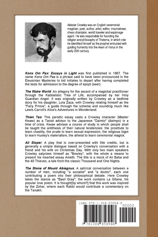 Amazon com: Konx Om Pax (9781304858948): Aleister Crowley: Books