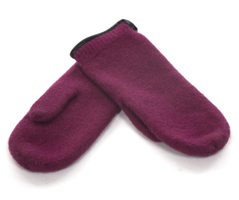 Janus 100/% Merino Wool Womens Gloves Mittens W//Genuine Leather Trim Made in Norway
