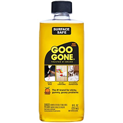 Goo Gone Original Liquid - Surface Safe Adhesive Remover – Safely removes  Stickers, Labels,