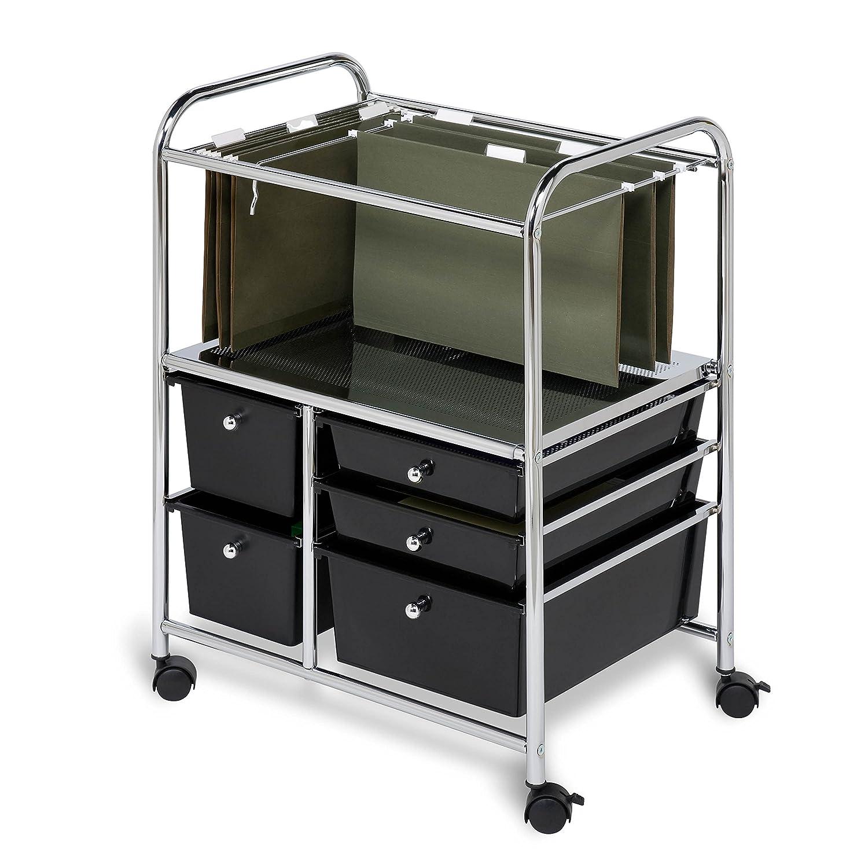 Amazon.com: Honey Can Do CRT 01512 5 Drawer Hanging File Cart: Home U0026  Kitchen