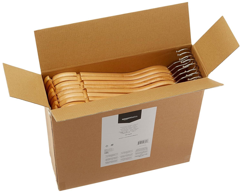 AmazonBasics - Perchas de madera para traje (16 unidades ...