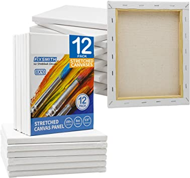 "8x10/"" Primed Blank Artist Cotton Canvas Board Oil Acrylic Paint Best Crafts"
