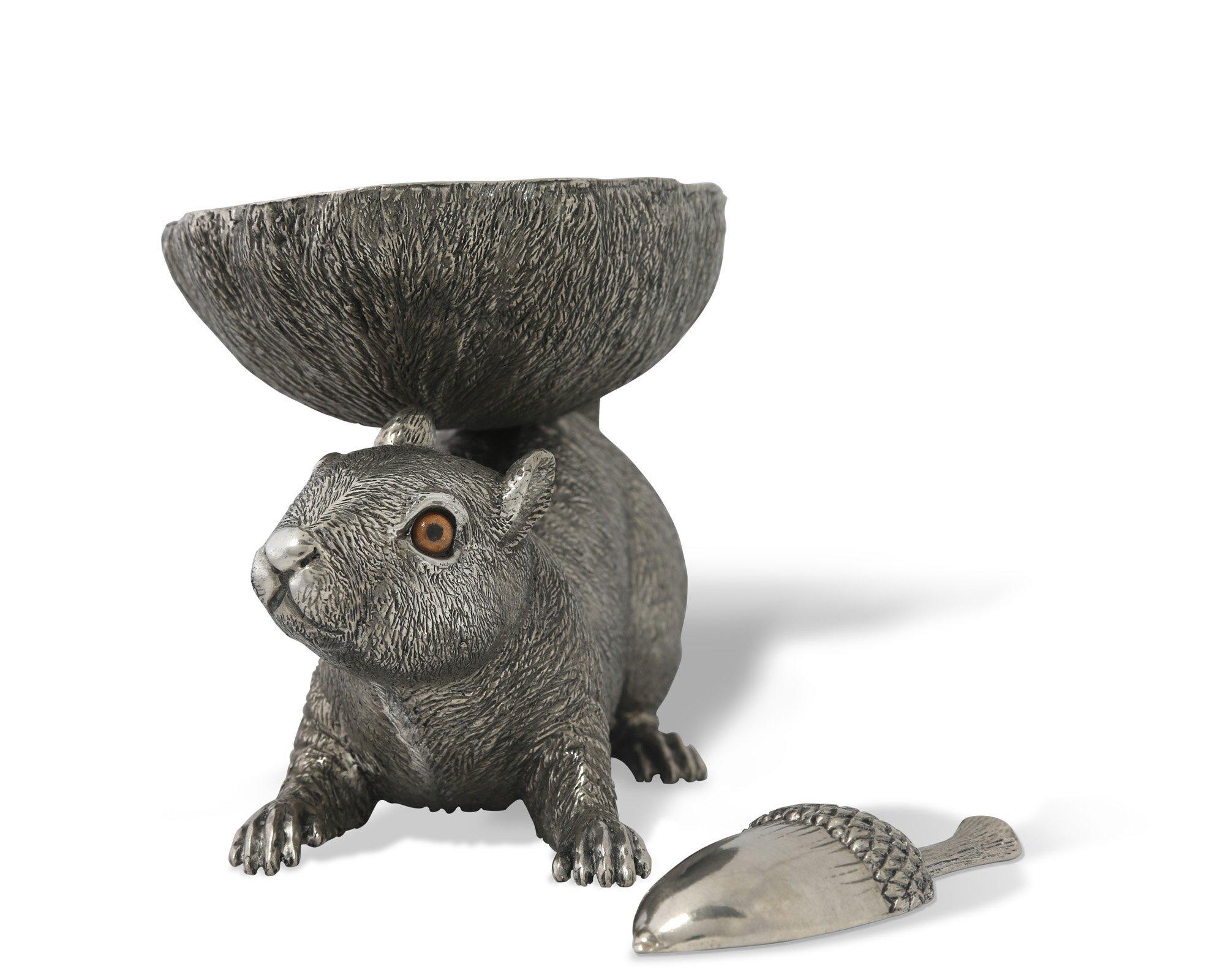 Vagabond House Pewter Life Size Squirrel Nut Bowl