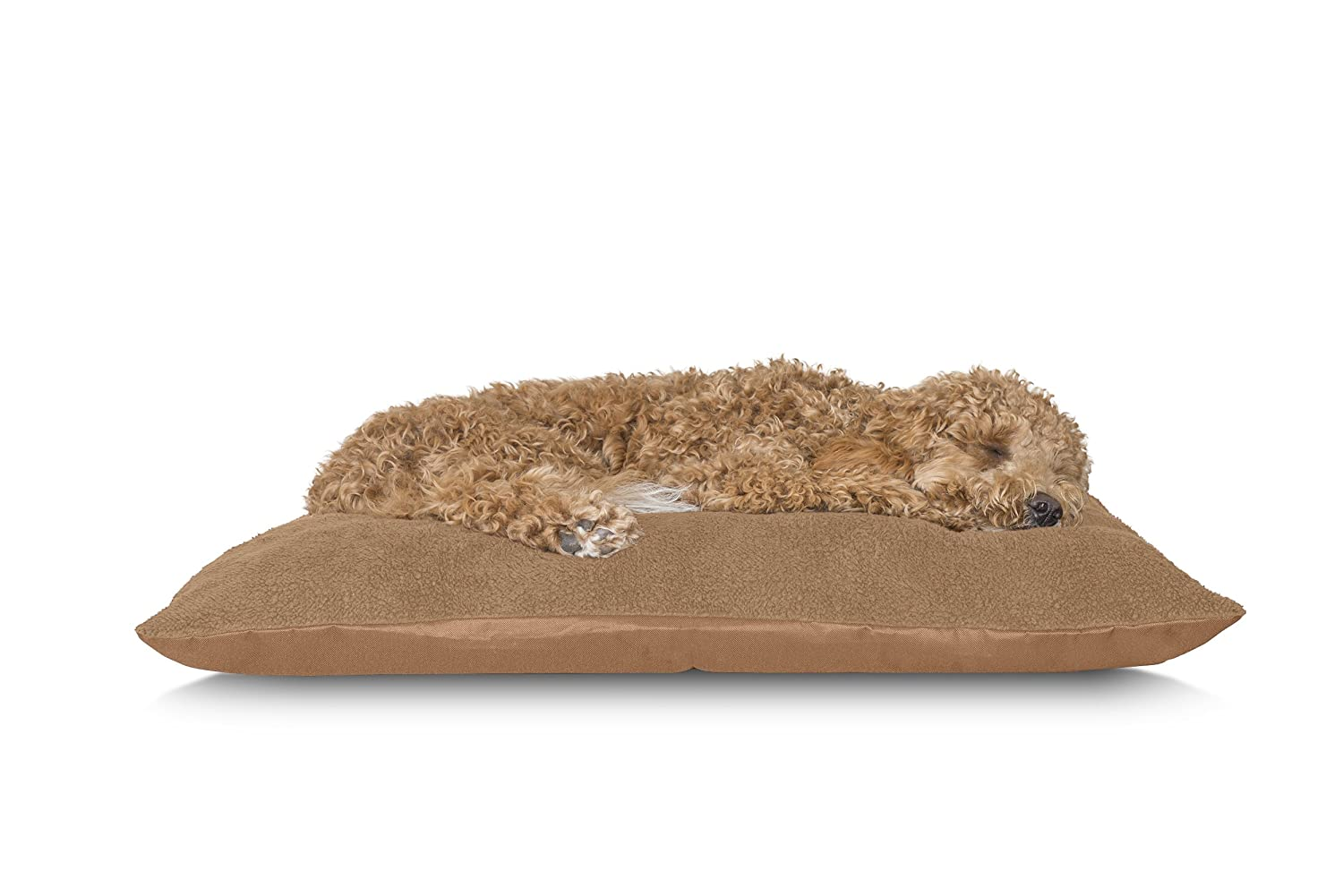 FurHaven Pet Dog Bed   Oxford & Terry Pillow Pet Bed for Dogs & Cats, Camel, Large