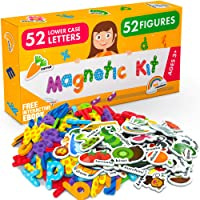 Foam Magnets and Magnetic Letters for Toddlers and Kids - ABC Alphabet Magnets for Refrigerator and Dry Erase Board…