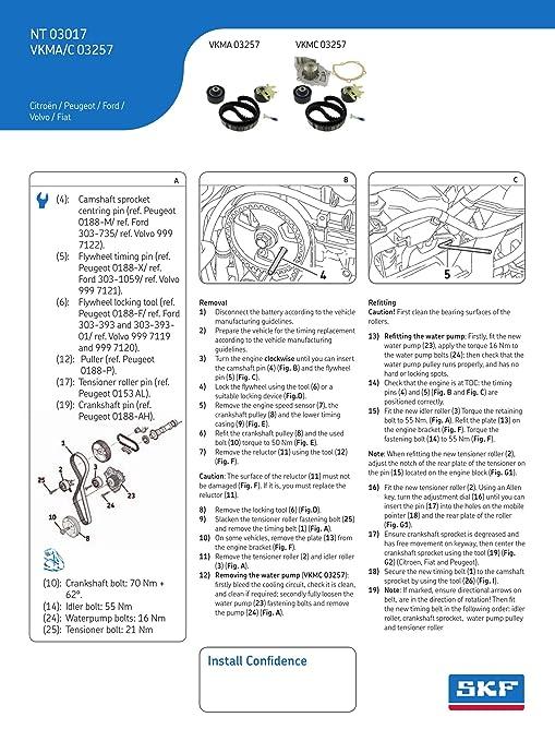 SKF VKMC 03257 Kit de distribución con bomba de agua: Amazon.es: Coche y moto