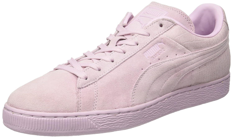 Puma Unisex-Erwachsene Suede Classic Casual Emboss Sneaker  46 EU|Violett (Lilac Snow)