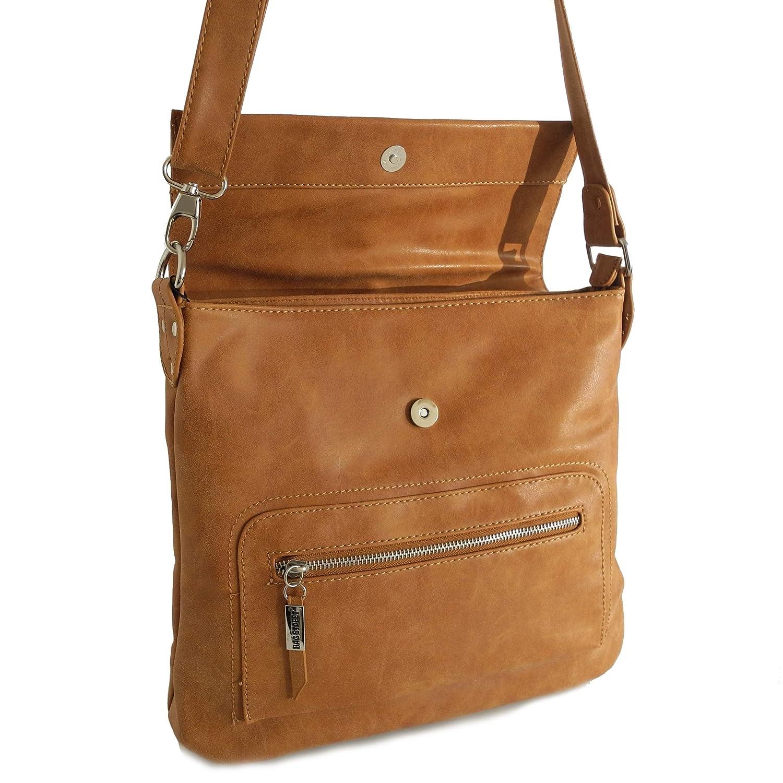 Bag Street dam axelväska cityväska axelväska messenger-väska (färgval) – presenterad av ZMOKA® konjak