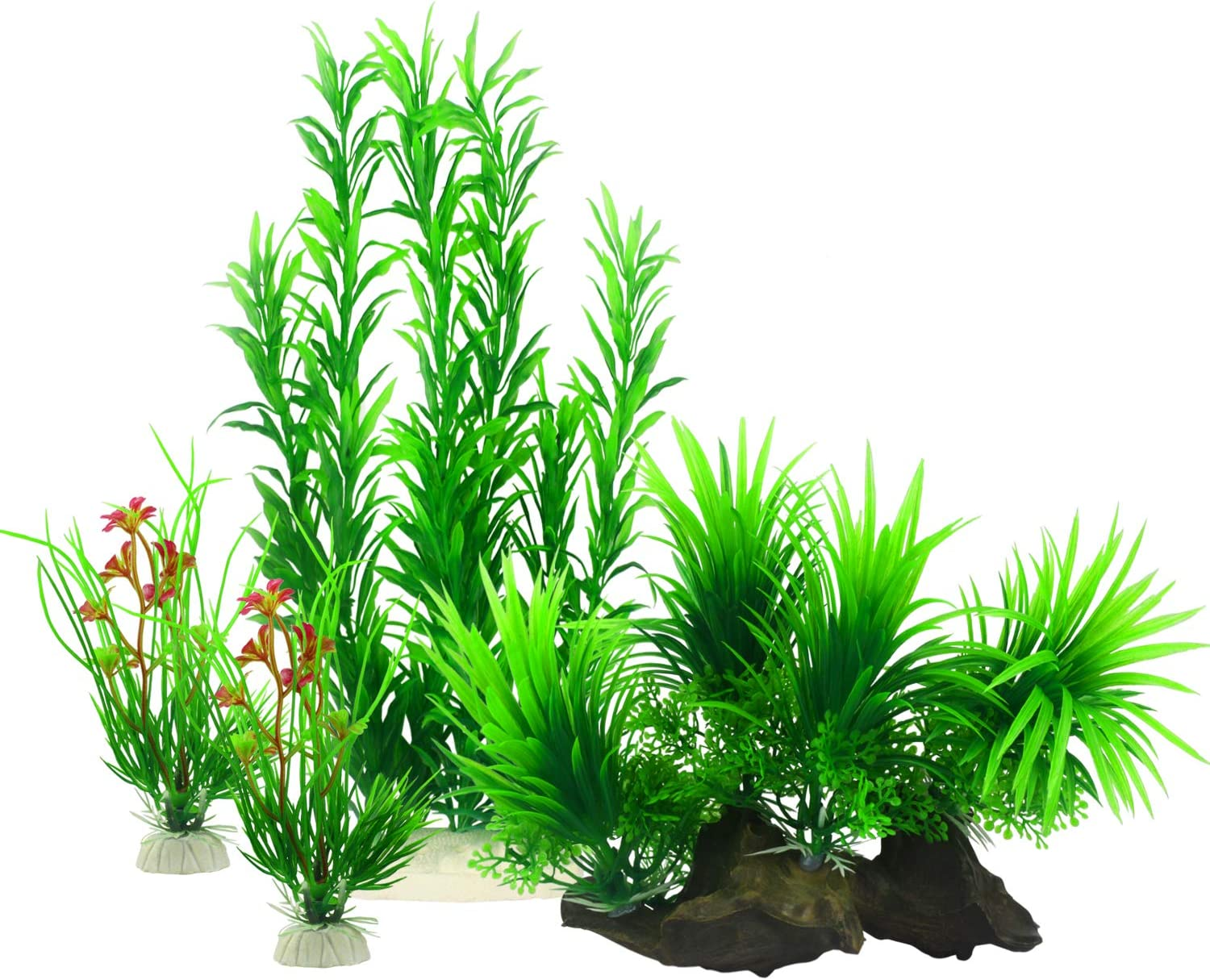 MyLifeUNIT Fish Tank Plants, Artificial Aquatic Plants for Aquarium Decorations (Pack of 4)