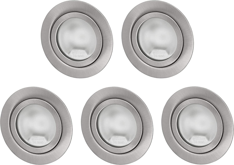 2in1 Spot G4 Möbel Einbauleuchte Schalterdose 60mm Metall Einbaustrahler weiß