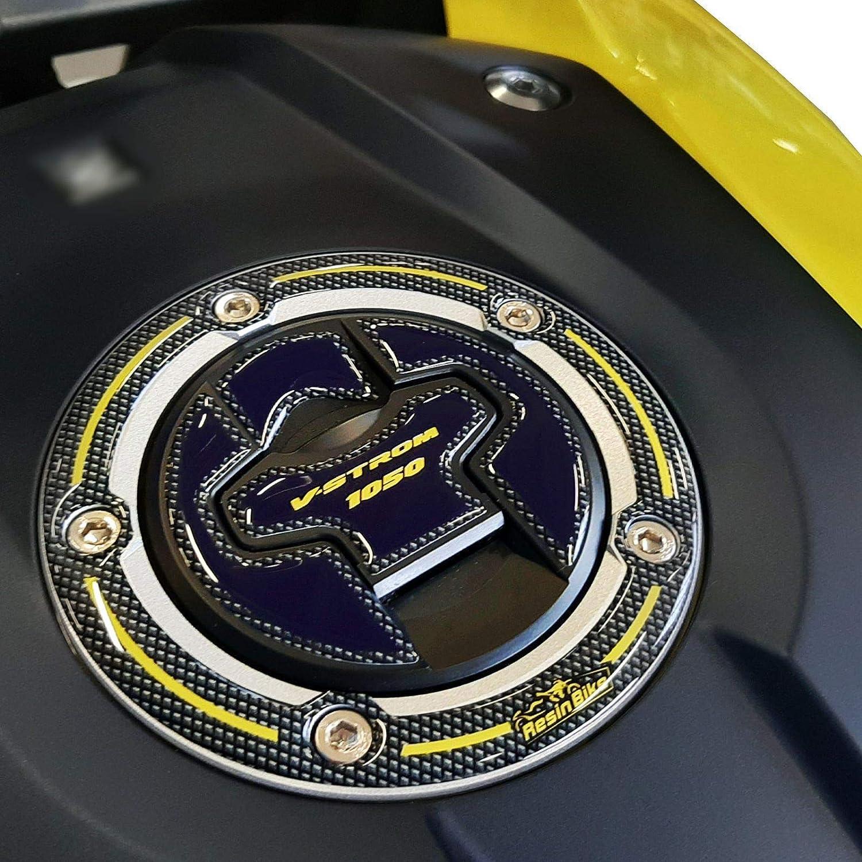 Adhesivo 3D Tap/ón Dep/ósito Compatible con Suzuki V-Strom 1050 2020 Amarillo