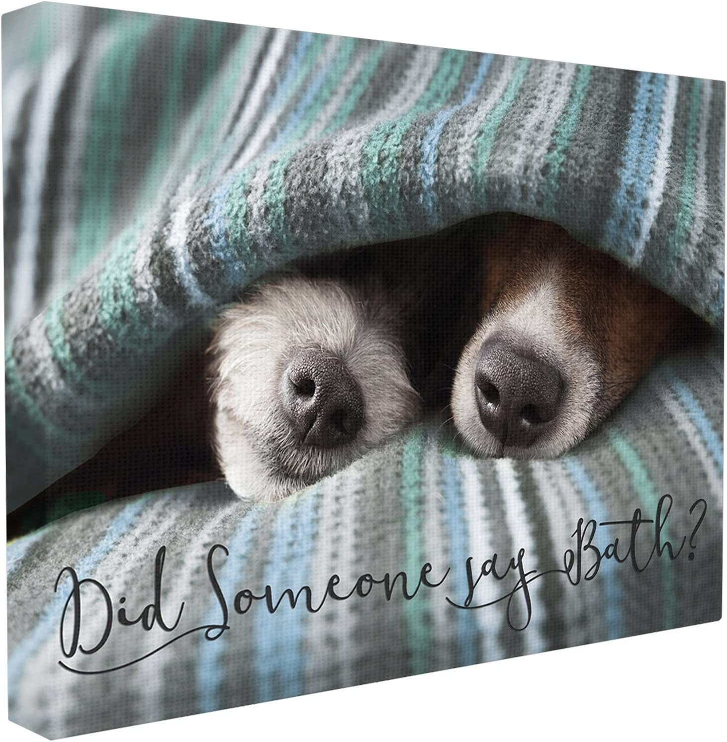Stupell Home Décor Me Time Dog With Towel Stretched Canvas Wall Art, 16 x 1.5 x 20, Proudly Made in USA