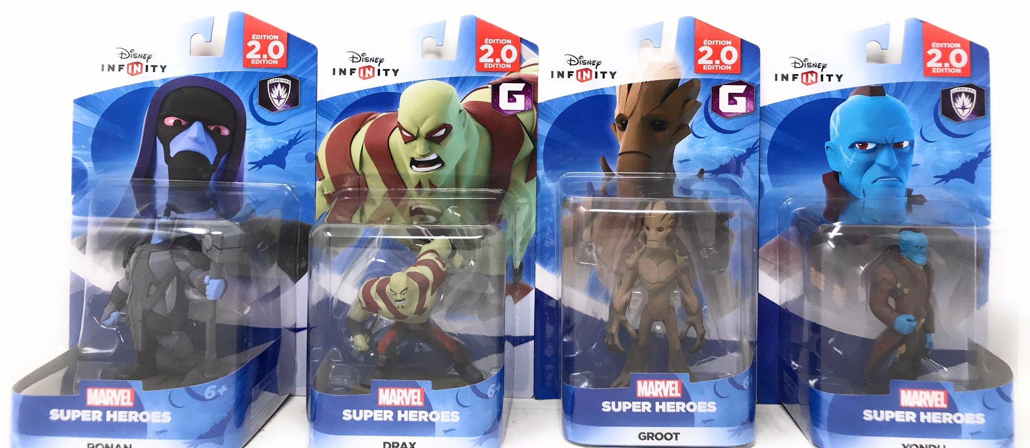 Disney Infinity: Marvel Super Heroes (2.0 Edition) Groot, Yondu, Ronan & Drax Figures Guardians Of The Galaxy - Not Machine Specific