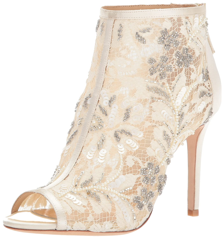 Badgley Mischka Women's Moyra Ankle Boot B073BX75XC 10 B(M) US|Ivory