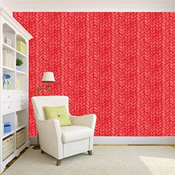100yellow Wallpaper Digital Printed Pink Color Peel And Stick