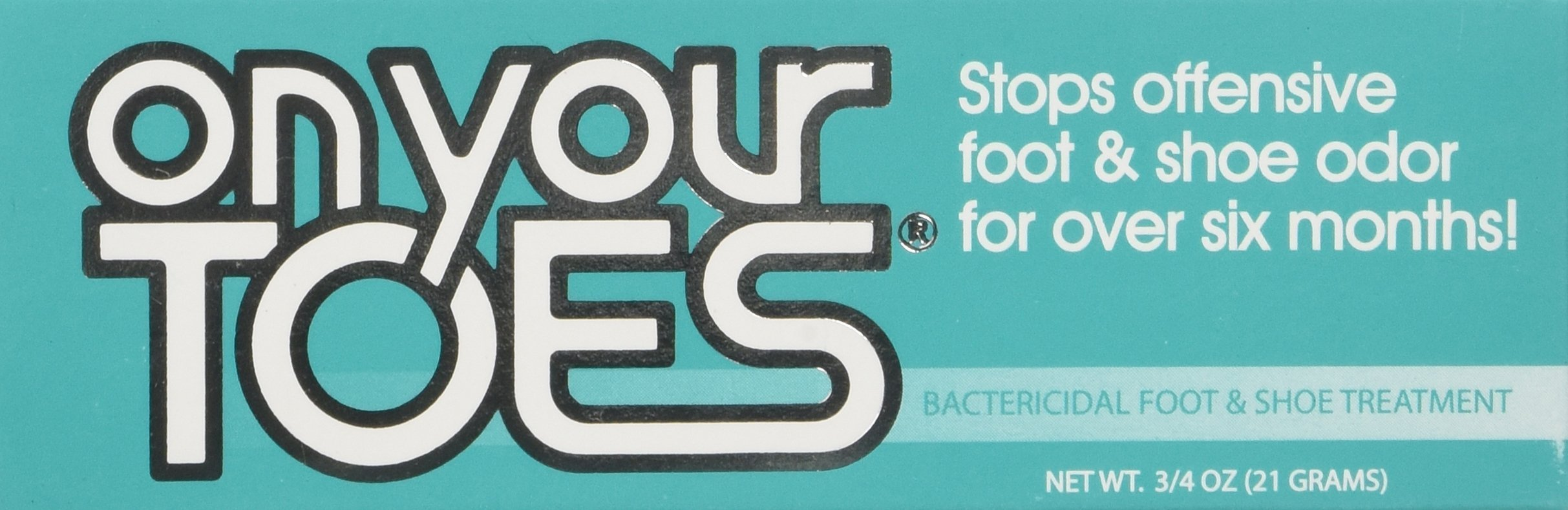 On Your Toes Foot Bactericide Powder - Eliminates Foot Odor for Six Months, 21 grams (One Pack) by On Your Toes