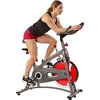 Sunny Health & Fitness Bicicleta de Ejercicios de Ciclismo de Interior de Cadena SF-B1423C con Monitor de LCD