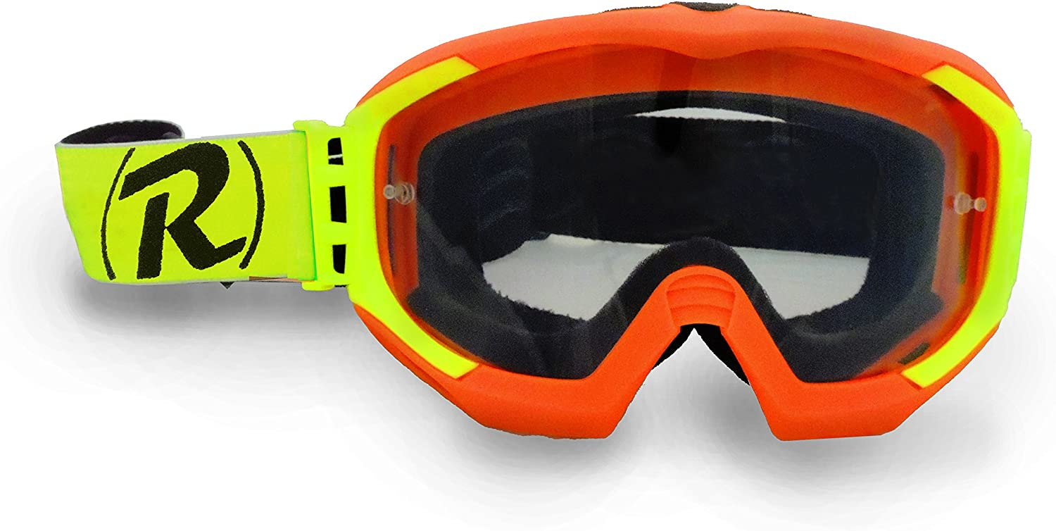 raleri Ripper Neon Orange Máscara Cross – Offroad Naranja Fluo Corsa para competición Rally y baja, Quad Racing, Moto Cross, Gravity DH, Enduro, MTB, MTX – Naranja Fluo