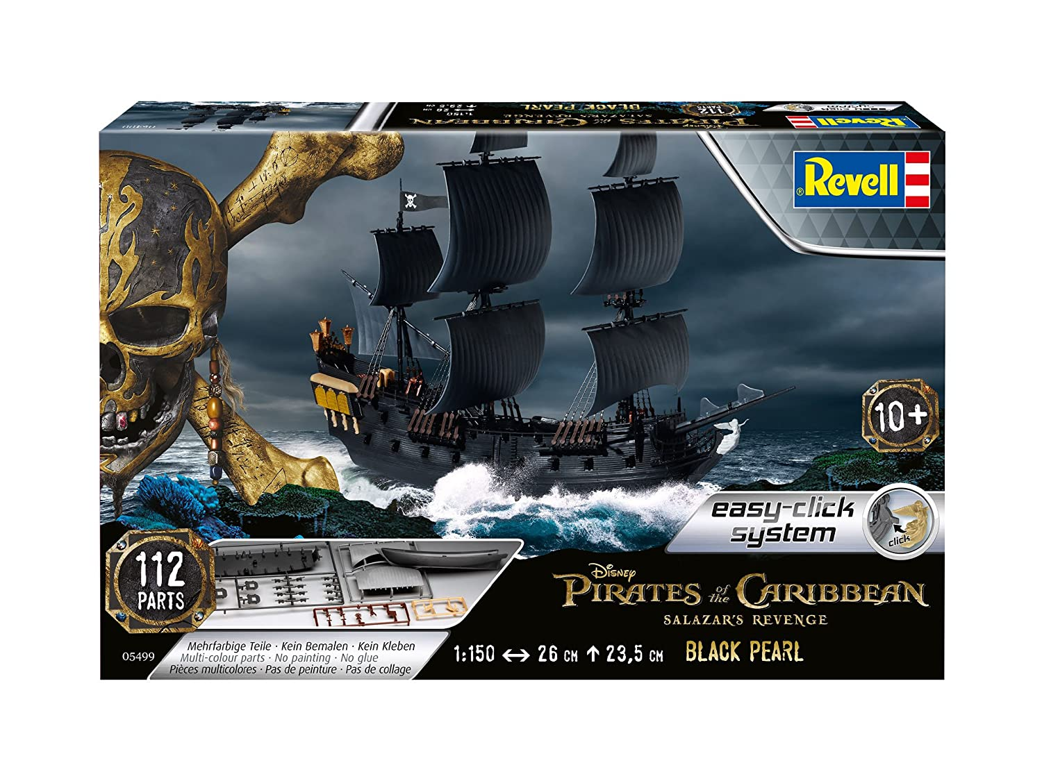 05499 - Pirates Of The Caribbean - The Black Pearl 1:150 Scale revell Revell_05499