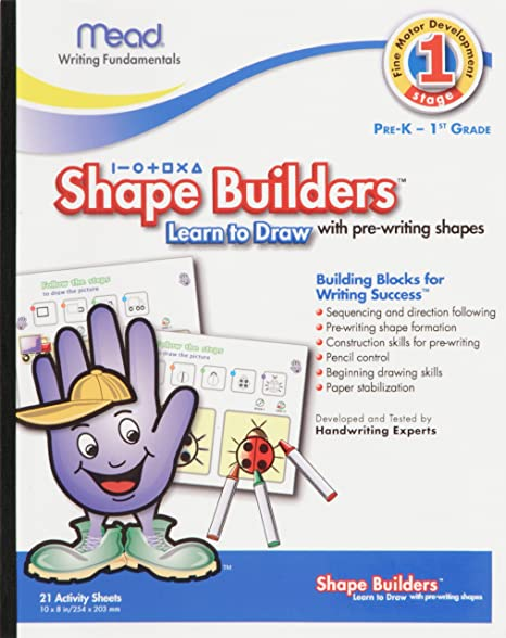 Amazon.com : Shape Builders Learn To Draw, 10 x 8 Inches, 21 Count ...