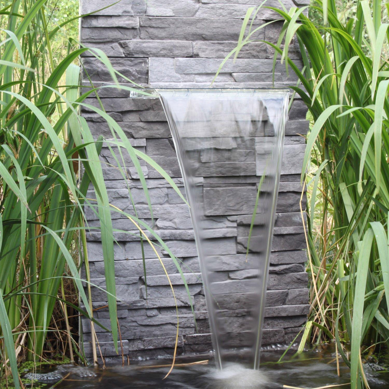 Wasserfall Set WFS1 mit LED Beleuchtung und Pumpe Wasserschwall für ...