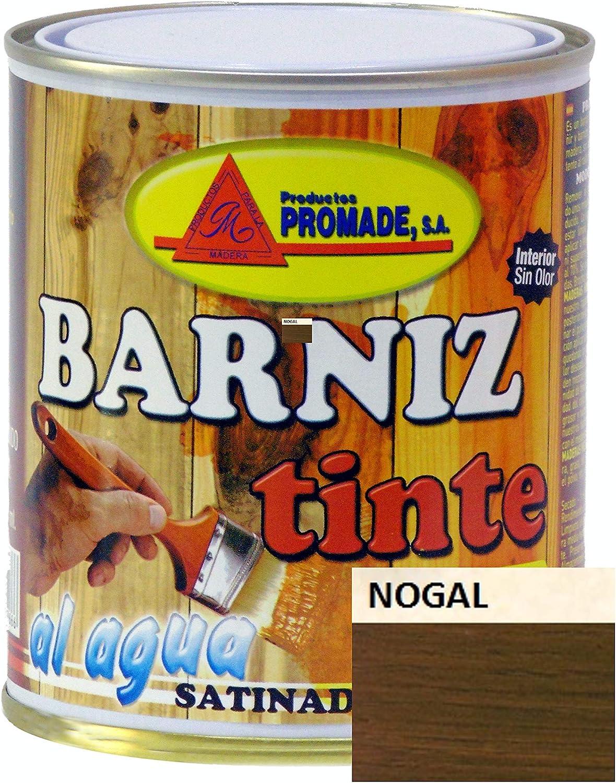 PROMADE - Barniz tinte satinado al agua 750 ml (Nogal)