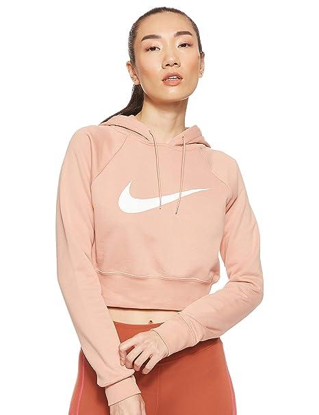 Nike W NSW Swsh Hoodie Crop Ft, Felpa Donna