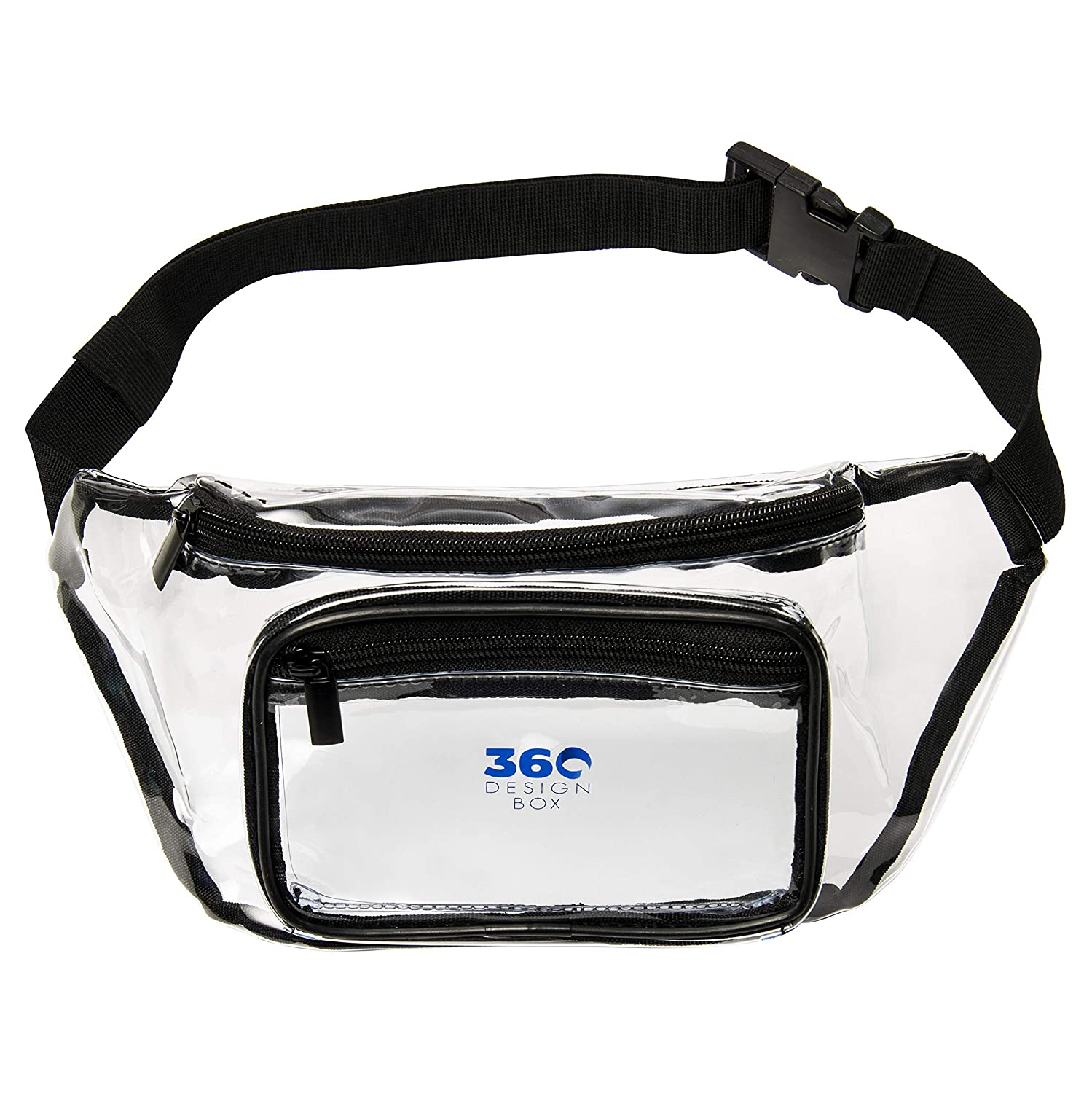 NFL Clear Bag Stadium Approved 360 DESIGN BOX Clear Fanny Pack Messenger Clear Purse for Festivals and Games Adjustable Transparent Clear Waist Bag