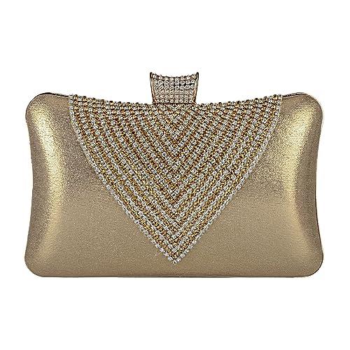 6af39b18c2d82 EULovelyPrice Bolso de noche de los bolsos de las mujeres del Rhinestone  con cuentas embragues bolso