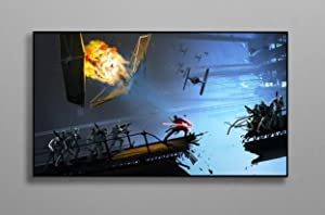 """Sci Fi Art Print Compatible with Star Wars Poster Wall Decor Canvas Art Wall Art Print Gift Poster Unframed Printing Size - 11""""x17"""" 18""""x24"""" 24""""x32"""" 24""""x36"""" (S - 11""""x17"""" (28x43cm))"""