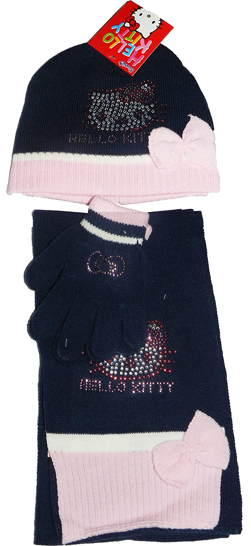 44d80943a Hello Kitty -Hat/Gloves/Scarf Set (Diamond Stones)- NH4029 (52cm, NAVY  BLUE): Amazon.co.uk: Clothing