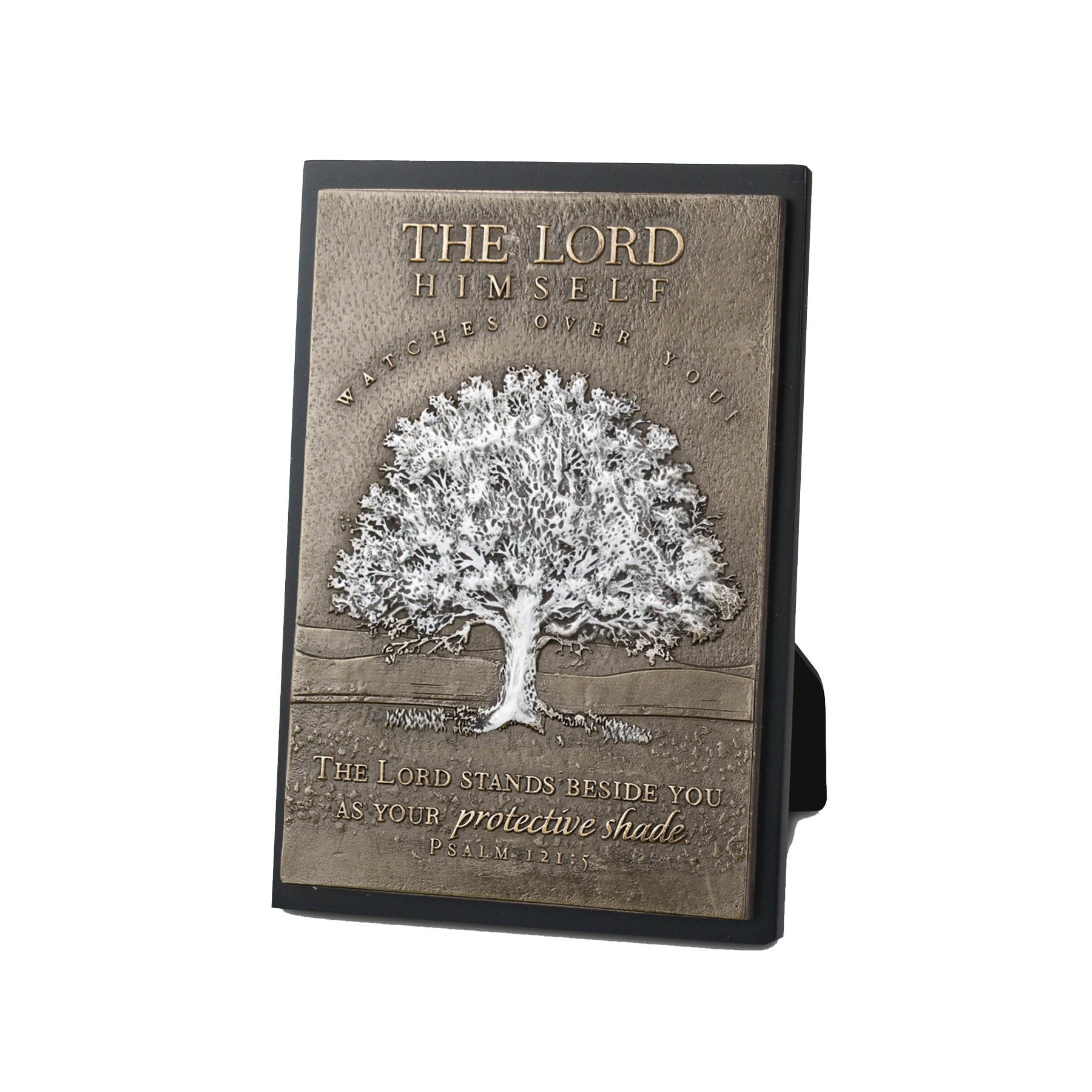 Lighthouse Christian Products Moments of Faith Tree Rectangle Sculpture Plaque, 4 1/2 x 6 1/2''