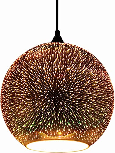 JEUNEU Modern 3D Colourfull Glass Pendant Light Firework Lamp Kitchen Decor Lighting Fixture 11.81 inch 30CM