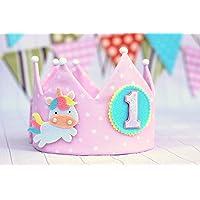 Corona de cumpleaños unicornio personalizada
