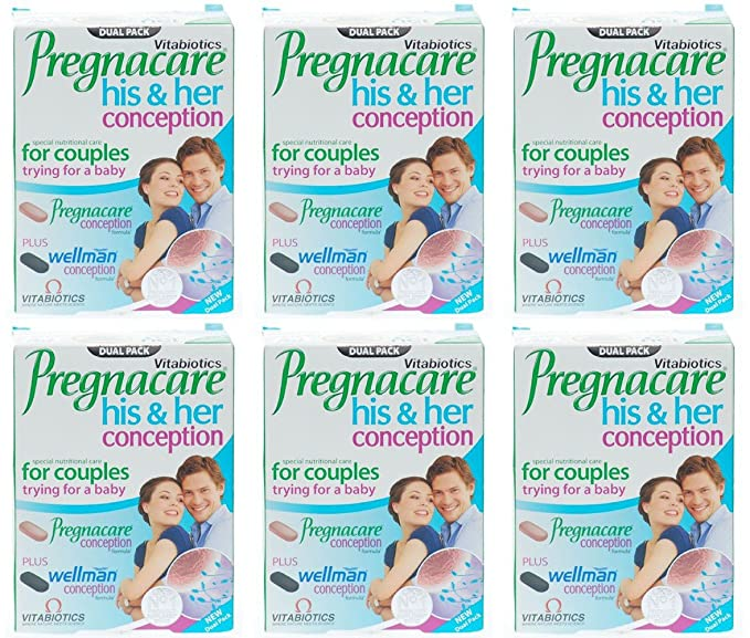 Vitabiotics Pregnacare His and Hers Tablets 60 Capsules: Amazon.es: Salud y cuidado personal