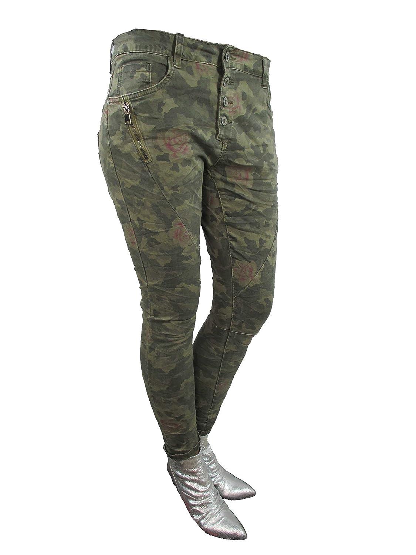 49d197c9b3da90 Zip Denim Stretch Baggy-Jeans Boyfriend schräge Naht 4 Knöpfe offene  Knopfleiste Camouflage Camouflage XL-42: Amazon.de: Bekleidung
