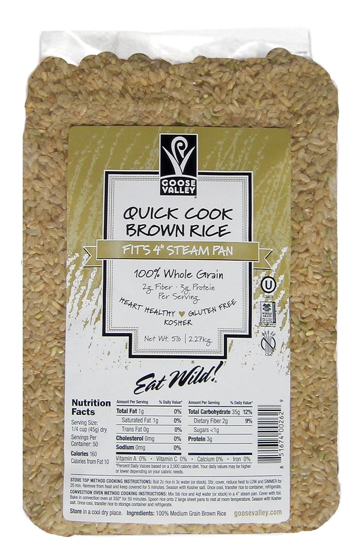 2 bolsas de 28.7 lbs de arroz marrón de cocción rápida ...