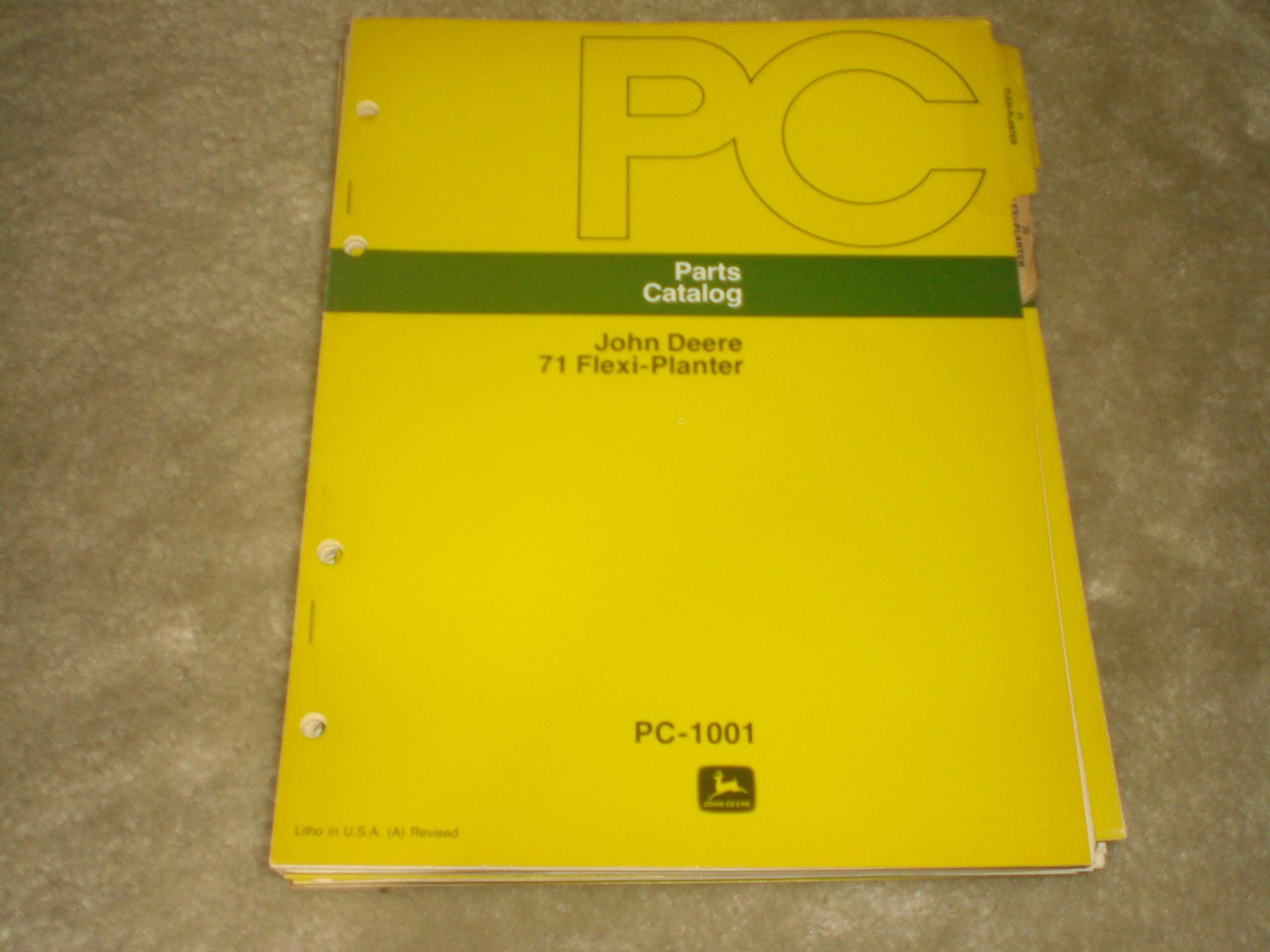Parts Catalog John Deere 71 Flex Planter Pc 1001 John Deere