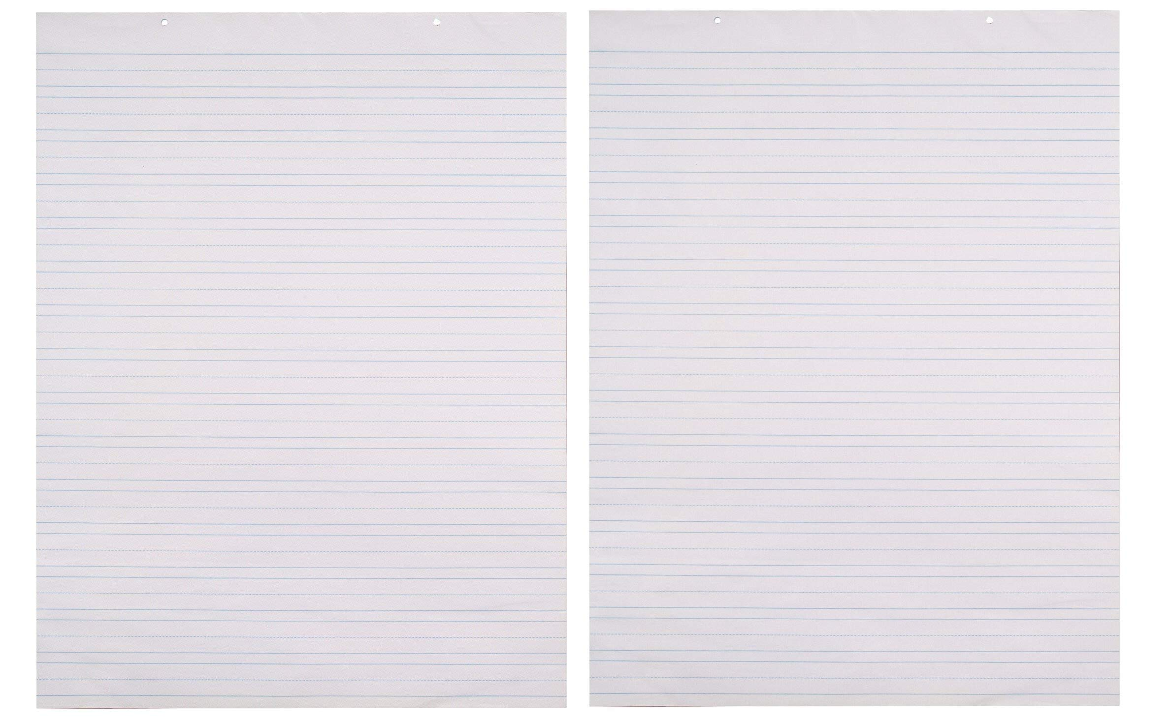 School Smart Chart Paper Pad, 24 x 32 Inches, Ruled 1-1/2 Inch, White, 70 Sheets (Тwo Рack)
