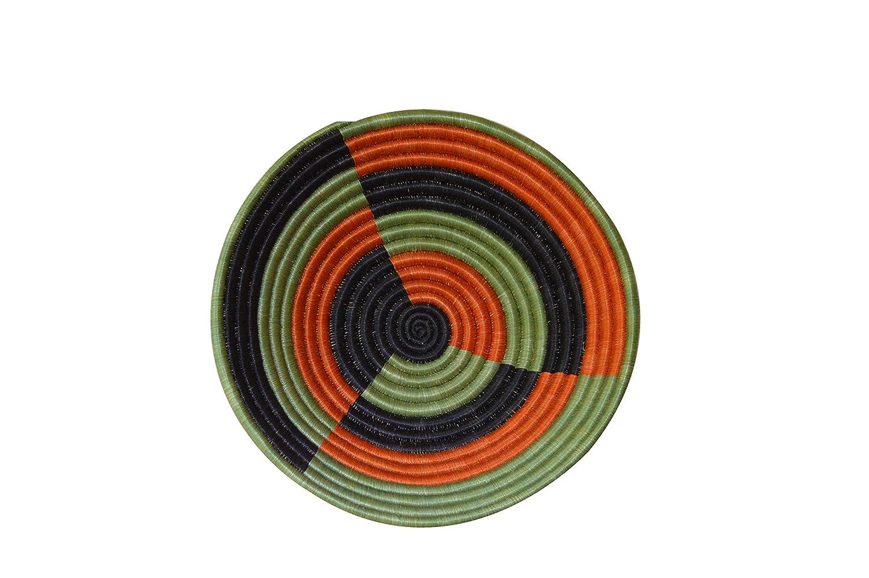 Handcrafted Weaved Basket Bowl| Woven Bowl|Sisal /& Sweetgrass Basket Round Basket Gurkha Size 12inches Designer Green Color Fruit Basket Bowl African Gift Shop| Rwanda Basket Bowl