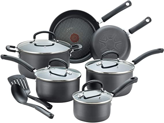 T-fal E765SC Ultimate Hard Anodized Nonstick 12 Piece Cookware Set