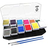 Artiparty Face & Body Paint Kit Professional Palette – Non-Toxic & Hypoallergenic – Easy to Apply & Remove – Plastic Box for Ease of Storage&Carrying – Ideal as Adults & Kids Face Painting Set