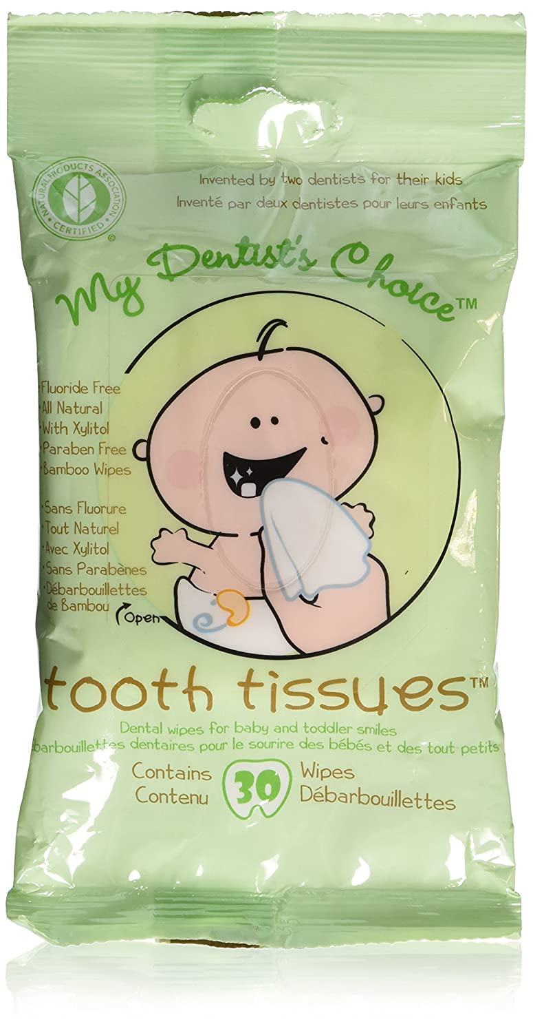 Oral Hygiene Gum Wipes - Tooth Tissues - Dental Wipes for Baby and Toddler Teeth and Gums (1 Packs of 30 Wipes) My Dentist' s Choice D 28-XL